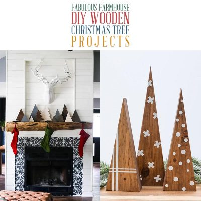Fabulous Farmhouse DIY Wooden Christmas Tree Projects