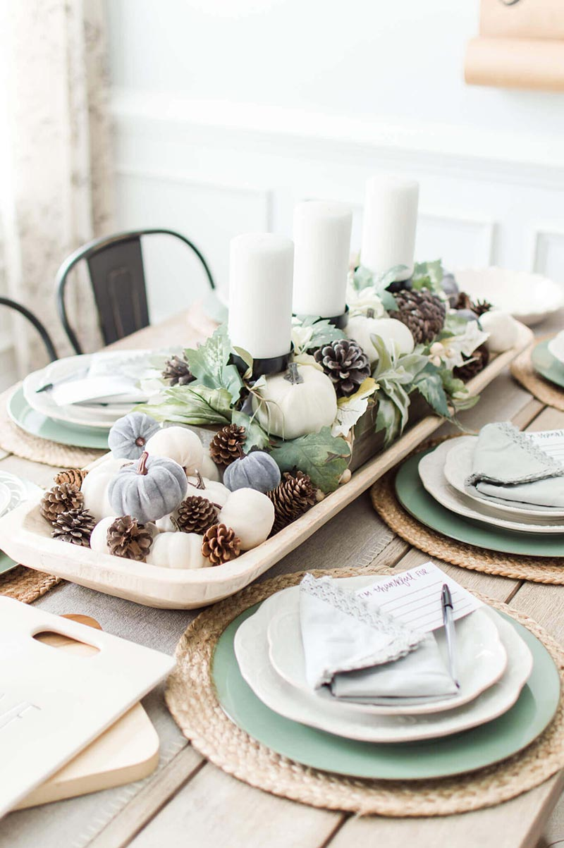 These Fall and Thanksgiving Farmhouse Dough Bowl Center Piece Ideas are going to inspire you to create the perfect one for your space!