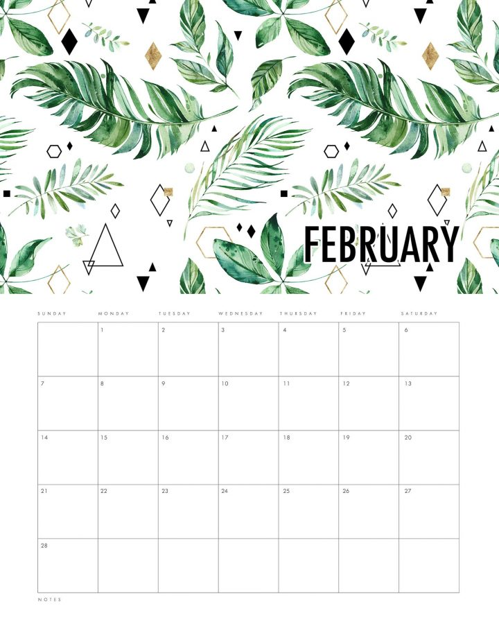 Free Printable 2021 Calendar Modern Leaves Creation is waiting for you over at The Cottage Market! It's perfect for any space or home decor! ENJOY!