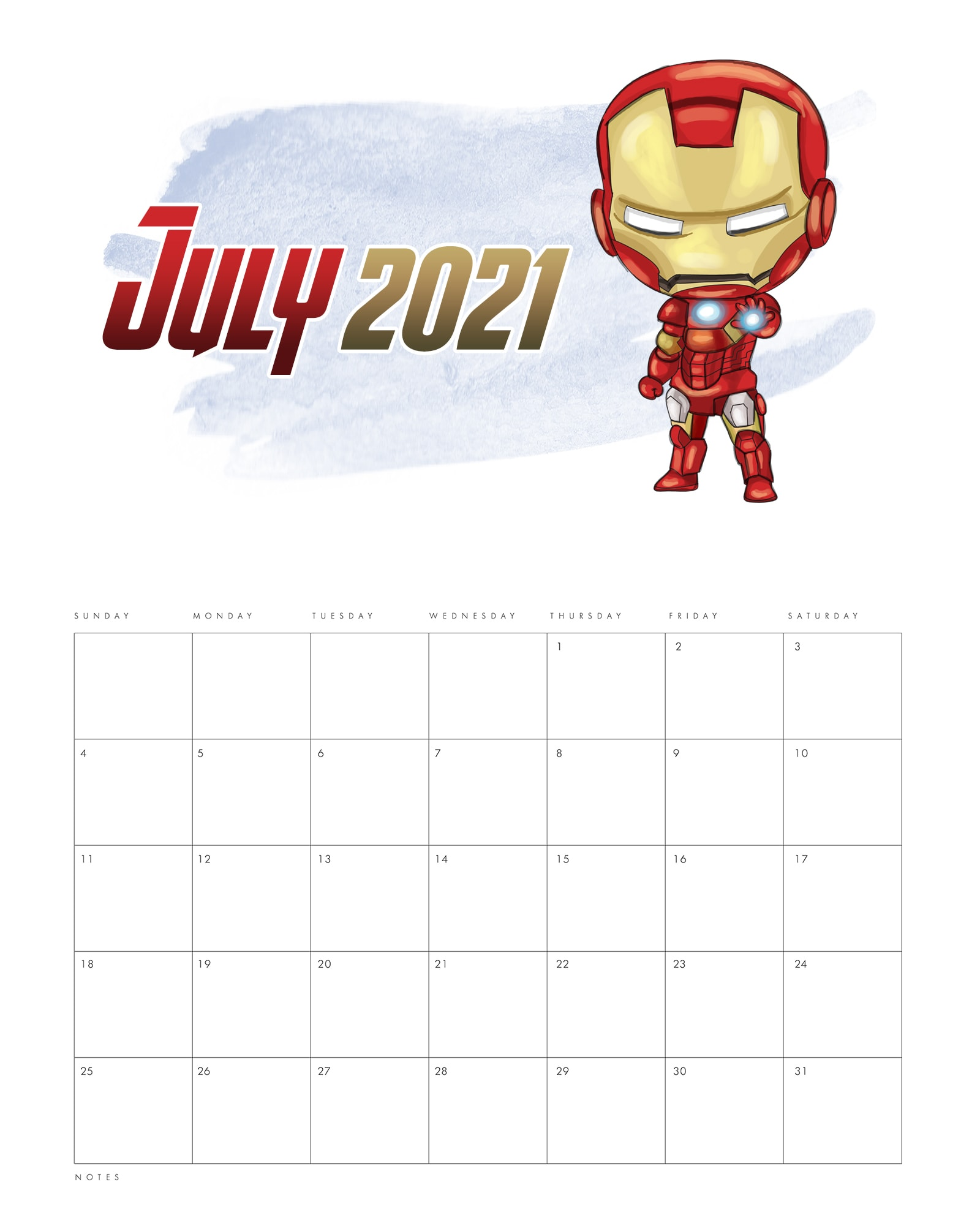 Calendrier Ironman 2021 Free Printable 2021 Avengers Calendar   The Cottage Market