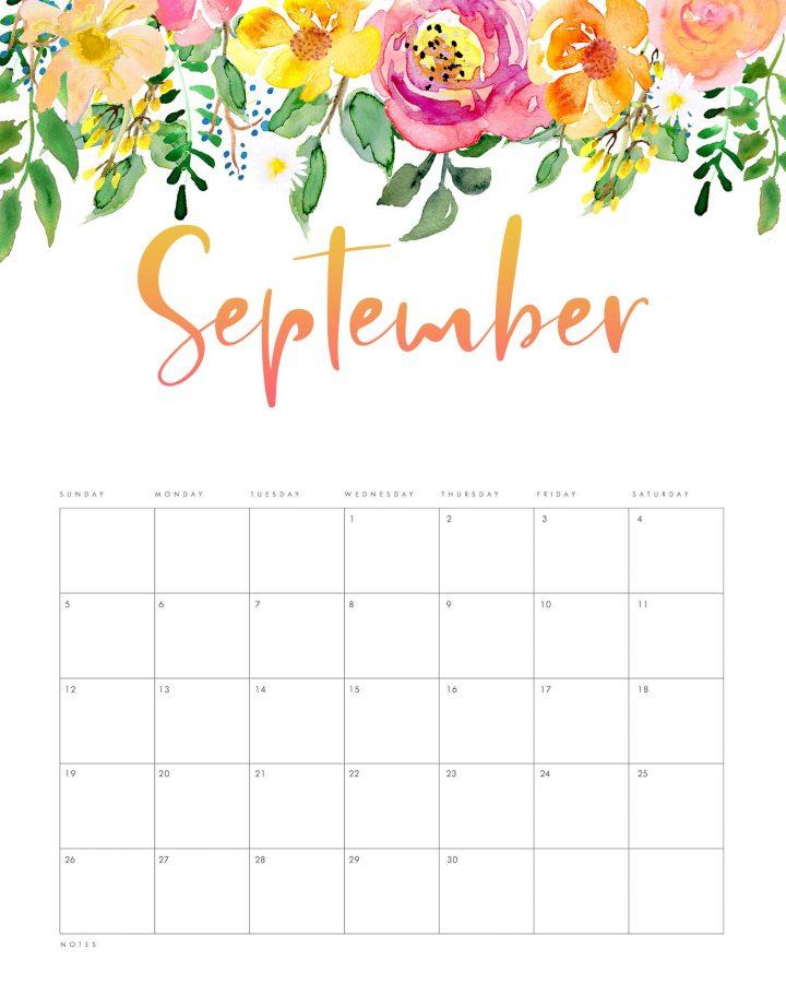 Free Printable 2021 Floral Drop Calendar - The Cottage Market