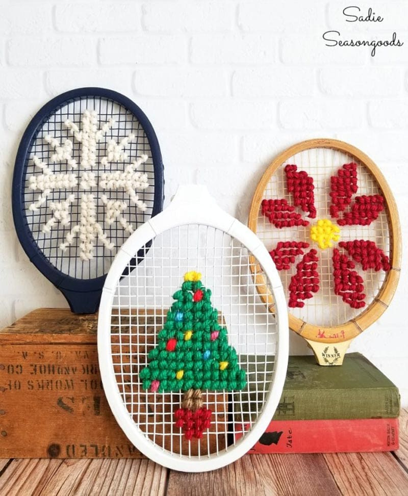 These Upcycled Christmas Projects have amazing Farmhouse Style! They have been created mostly with vintage items that add a touch whimsy and charm.