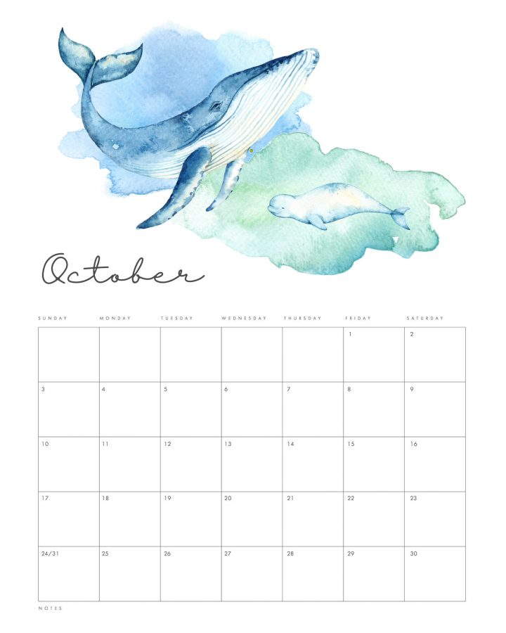 This Free Printable 2021 Under the Sea Calendar is going to get you all totally organized this new year in beautiful style! All of you Under The Seas Lovers... this one is for you.