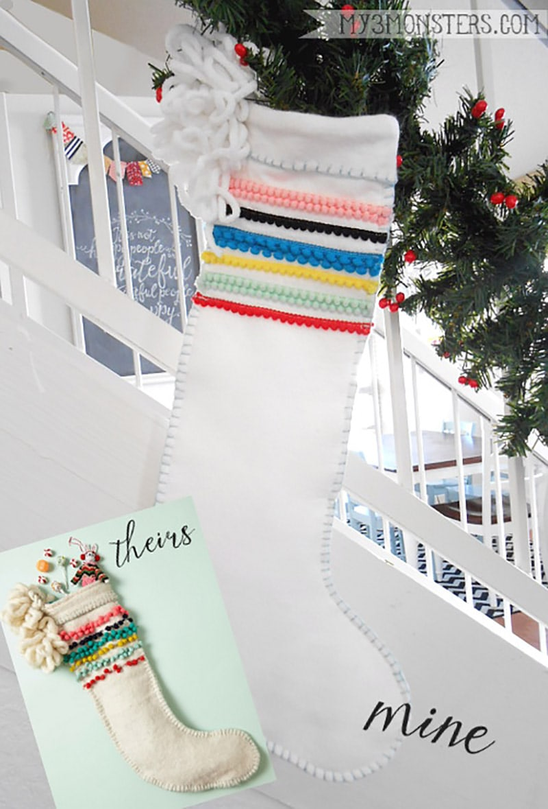 These quick and easy DIY Christmas Stockings are just waiting to be filled with all kinds of goodies that will make everyone happy!