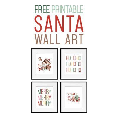 Free Printable Santa Wall Art