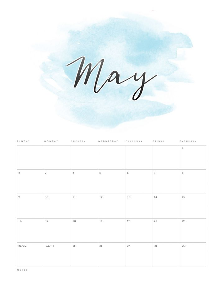 This fun Free Printable 2021 Watercolor Wash Calendar is going to look amazing anywhere you use it! It is fun... happy and oh so pretty! Let it keep your organized all year round!