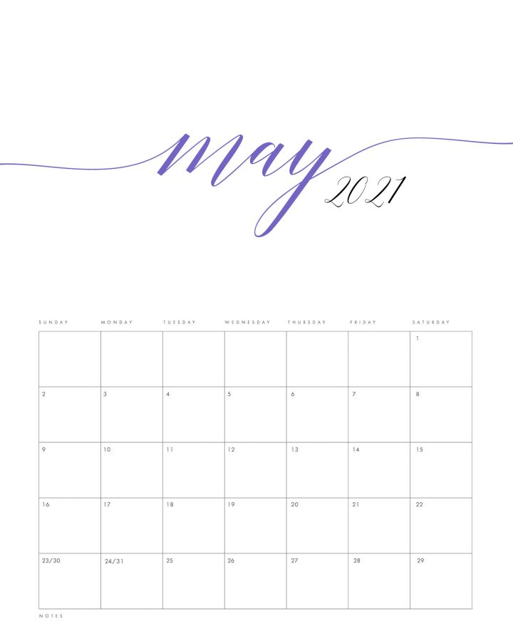 Here is a Free Printable 2021 Minimalist Color Calendar to get you organized for the New Year! It has a simple style we know so many of you adore and a pop of color