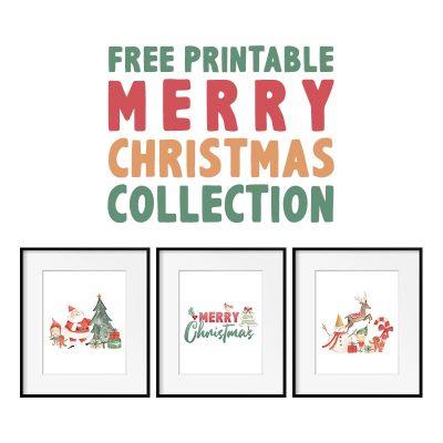 Free Printable Merry Christmas Collection