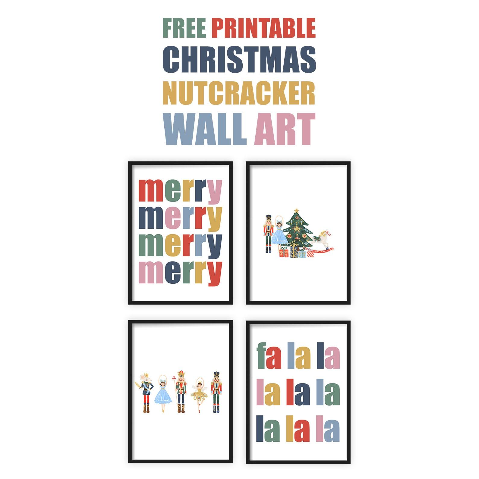 Free Printable Nutcracker Wall Art The Cottage Market