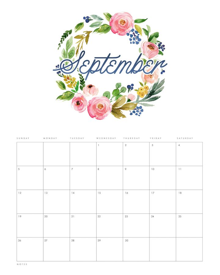 This Gorgeous Free Printable 2021 Floral Wreath Calendar is going to look amazing on your wall, bulletin board, desk or even in your planner! It will keep you organized all year long!