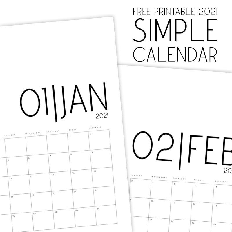 The Best Free Printable 2021 Calendars are just waiting for you to download and print! We have a variety that includes something for everyone... from Harry Potter to Minimalist and everything in between!