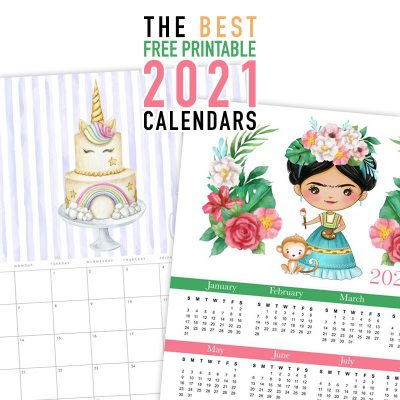 The Best Free Printable 2021 Calendars
