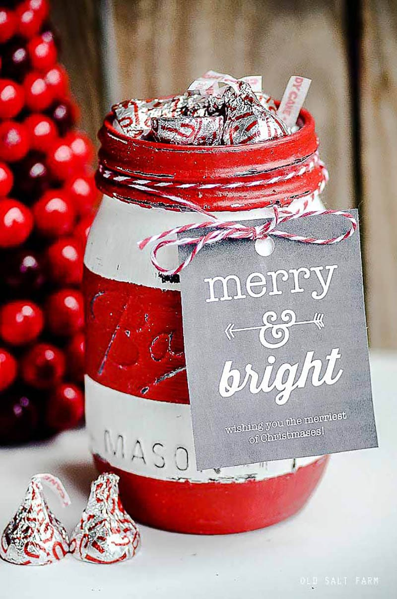 These Precious DIY Christmas Mason Jars are simply perfect for gift giving this Season! They are truly a present from the heart!