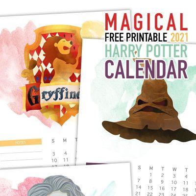 Magical Free Printable 2021 Harry Potter Calendar
