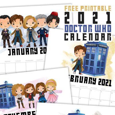 Free Printable 2021 Doctor Who Calendar