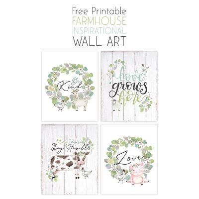 Free Printable Farmhouse Inspirational Wall Art
