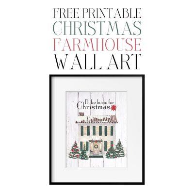 Free Printable Christmas Farmhouse Wall Art