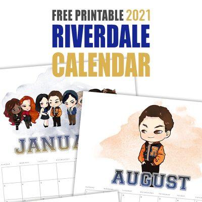 Free Printable 2021 Riverdale Calendar