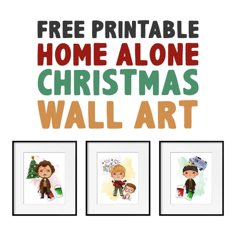 Free Printable Home Alone Christmas Wall Art is the perfect way to add a touch of fun and nostalgia to your Holiday Walls.  They also can be used in a Vignette!