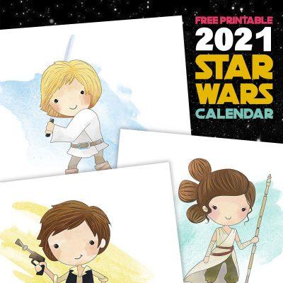 Free Printable 2021 Star Wars Calendar