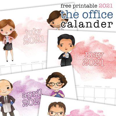 Free Printable 2021 The Office Calendar