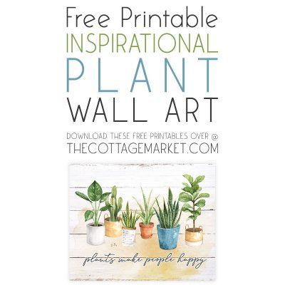 Free Printable Inspirational Plant Wall Art