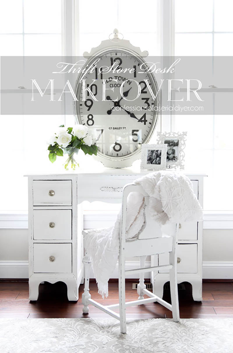 Charming and Chic Farmhouse Desk Thrift Store Makeovers are going to Inspire you to create your own original diy project that will be amazing!
