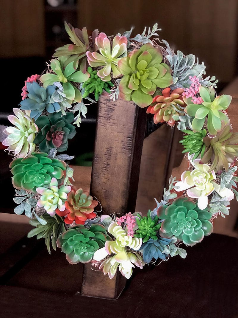 These Darling Dollar Store Spring and Easter Wreaths are just what your Front Door and your Budget have been looking for!