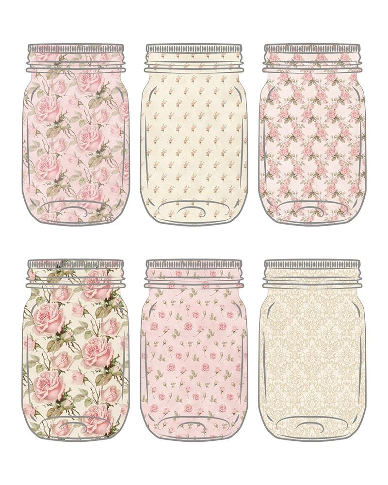 These Free Printable Cottage Style Mason Jar Tags are perfect to your on gifts and especially fabulous for hanging on Mason Jars filled with preserves... pickled vegetables... jams and more!