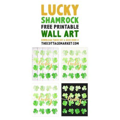 Lucky Shamrock Free Printable Wall Art
