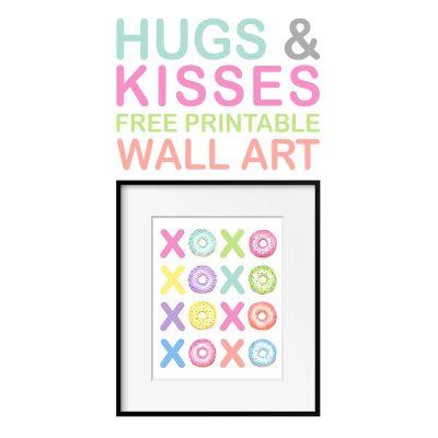 Hugs and Kisses Free Printable Wall Art
