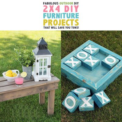 Fabulous Outdoor DIY 2X4 Furniture Projects