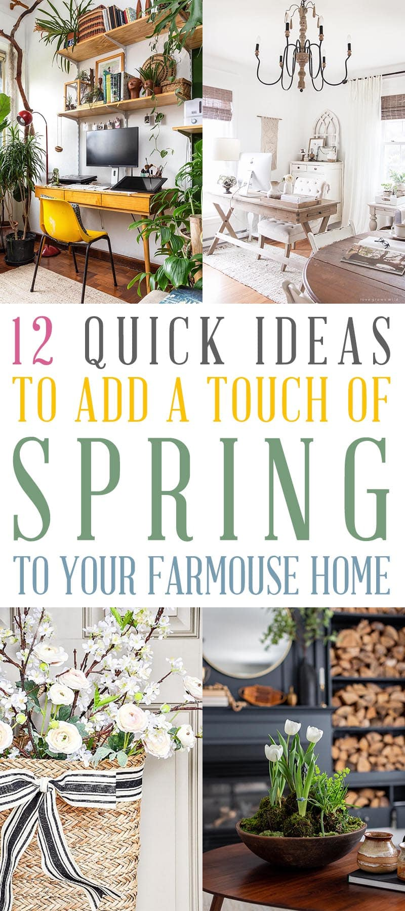 Spring is right around the corner… so to get things started here are 12 Quick and Easy Ways To Add Spring To Your Farmhouse Home.