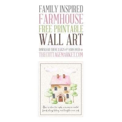 Family Inspired Farmhouse Free Printable Wall Art