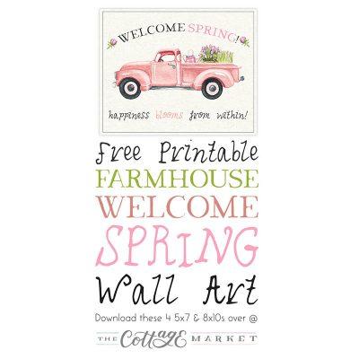 Free Printable Farmhouse Welcome Spring Wall Art