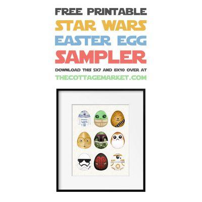 Free Printable Star Wars Easter Egg Sampler