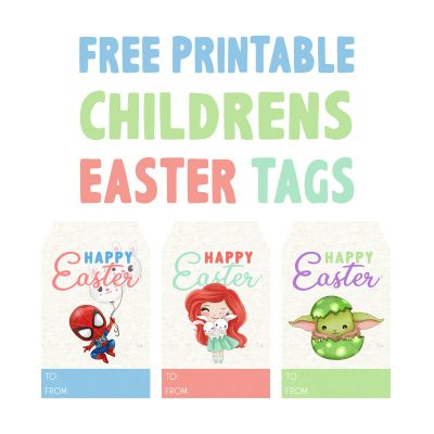 Free Printable Children's Easter Tags