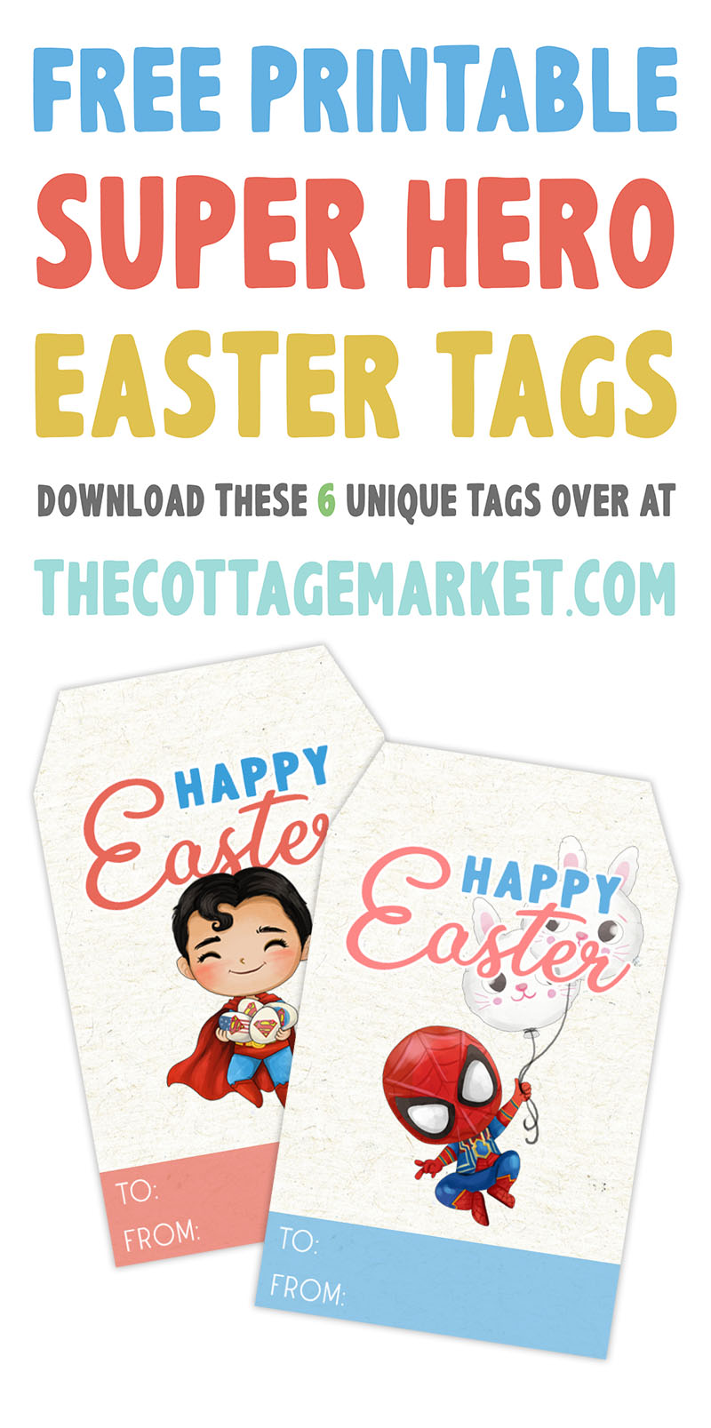 The Free Printable Children's Easter Tags are perfect for all the little ones and big ones on your Easter giving List!