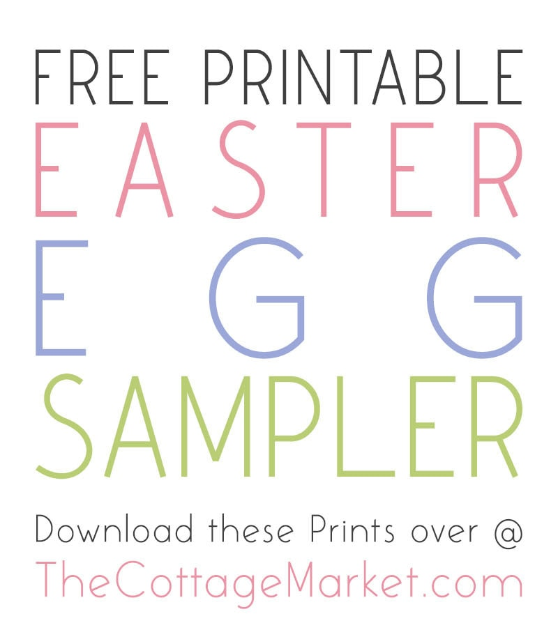This Free Printable Easter Egg Sampler is just what your wall needs to celebrate the Season of Easter!