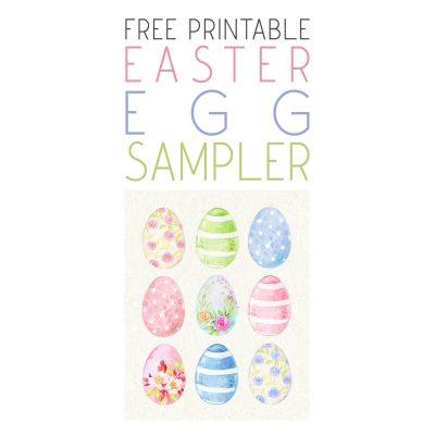 Free Printable Easter Egg Sampler