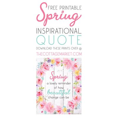 Free Printable Spring Inspirational Quote