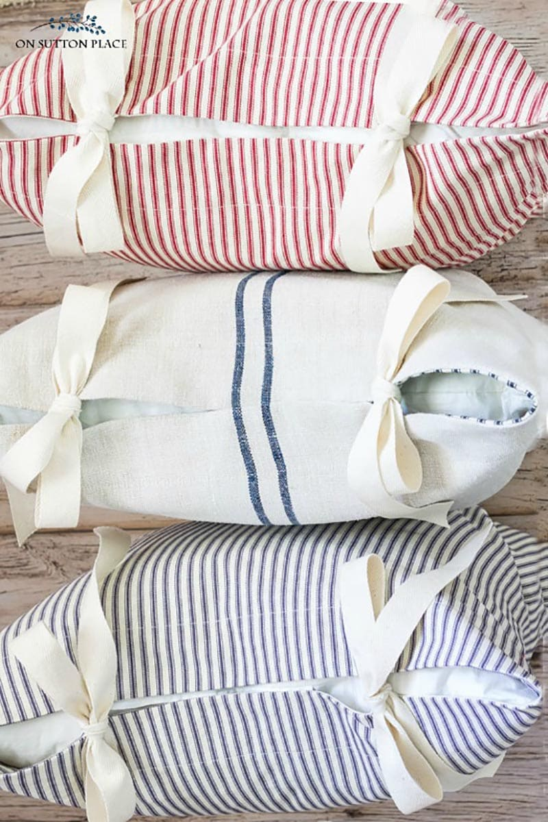 These Simple Budget Friendly DIY Throw Pillows are guaranteed to freshen up a space in a snap!