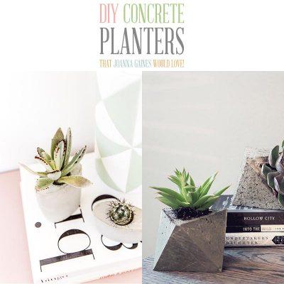 DIY Concrete Planters That Joanna Gaines Would Love!