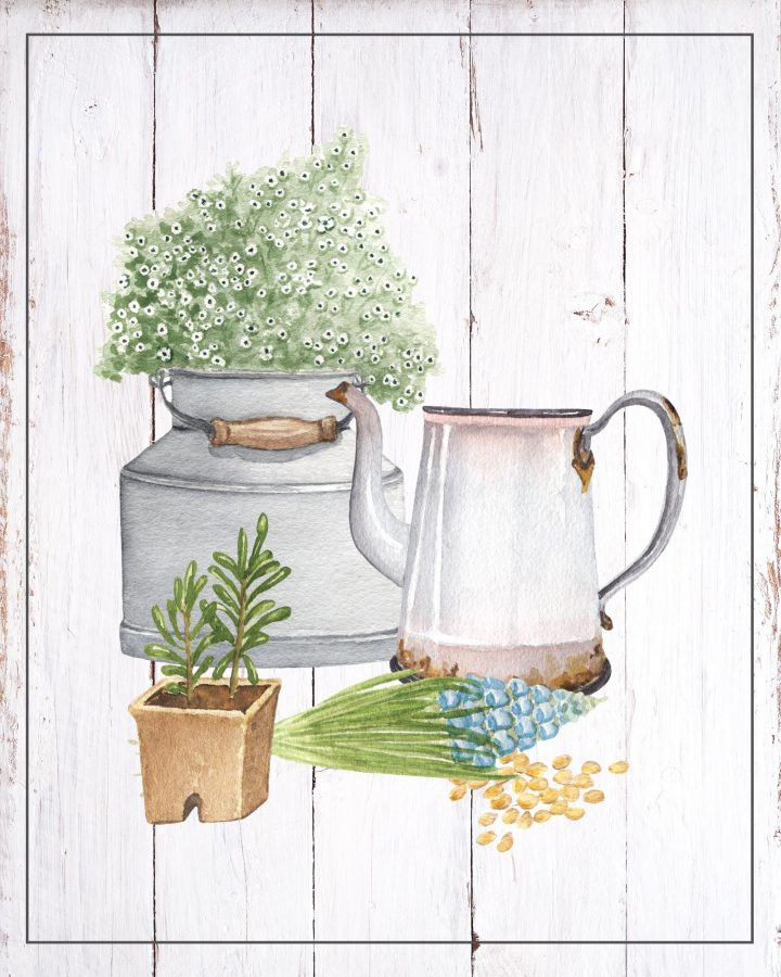 These Free Printable Farmhouse Garden Vignettes are going to look amazing in your home. A perfect little touch for the walls, gallery wall, vignettes and more. A great way to celebrate Earth Week! HAPPY EARTH DAY!