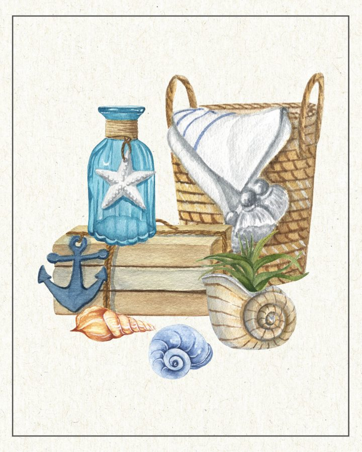 These Free Printable Coastal Farmhouse Vignettes are going to look amazing in your home. A perfect little touch for the walls, gallery wall, vignettes and more.