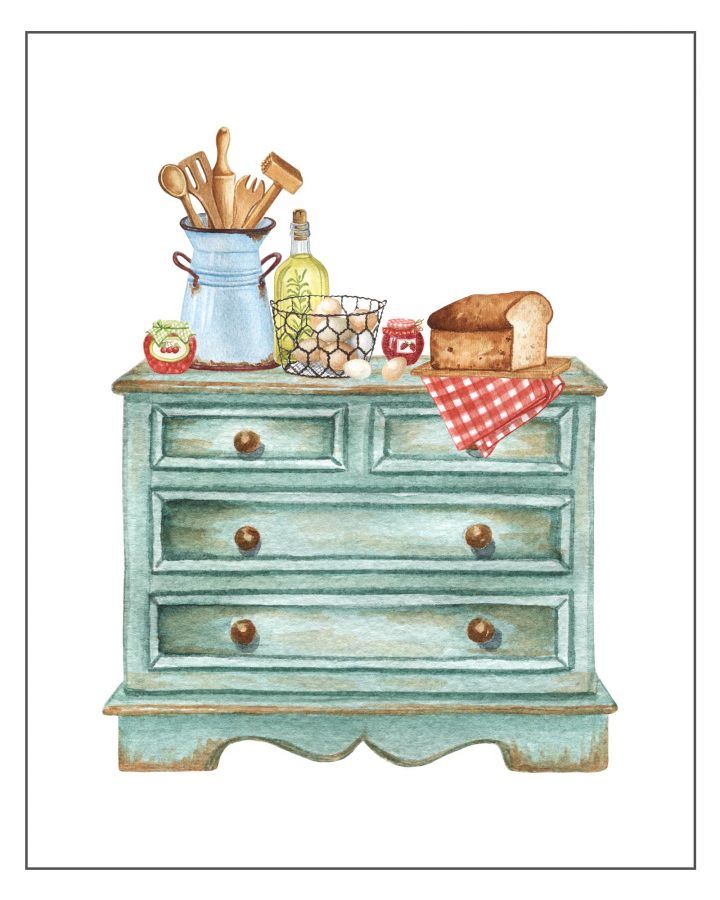 These Cottage Farmhouse Kitchen Free Printables are going to add a touch of charm and vintage to your space!  You almost feel like you are in Grandma's Kitchen.  A touch of nostalgia is a wonderful thing!