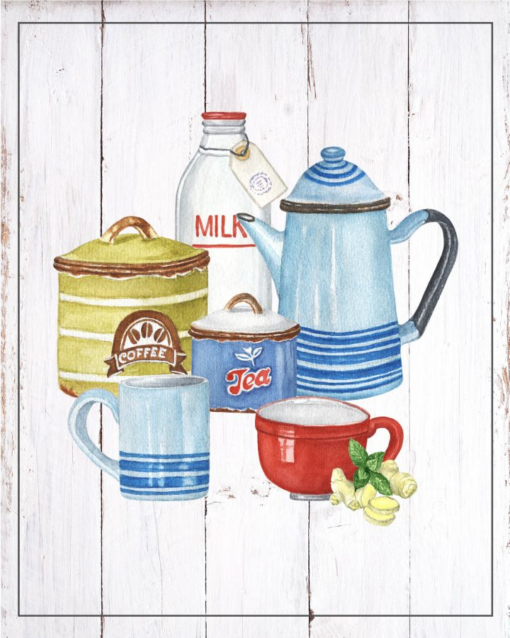 These Free Printable Cottage Farmhouse Kitchen Free Printables Vignettes are going to add a touch of charm and vintage to your space! You almost feel like you are in Grandma's Kitchen. A touch of nostalgia is a wonderful thing!