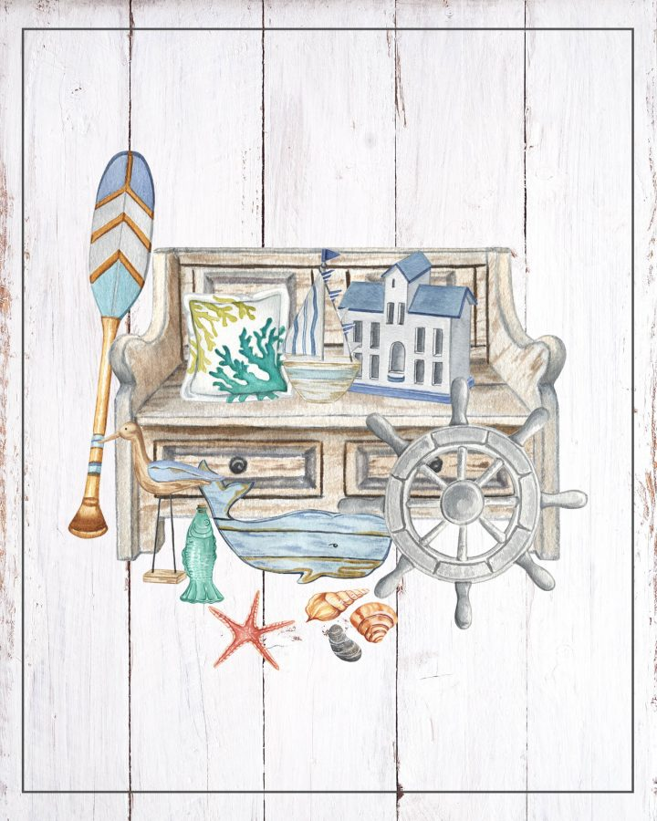 Free Printable Coastal Farmhouse Vignettes Part Two are going to look amazing in your home.  A perfect little touch for the walls, gallery wall, vignettes and more.