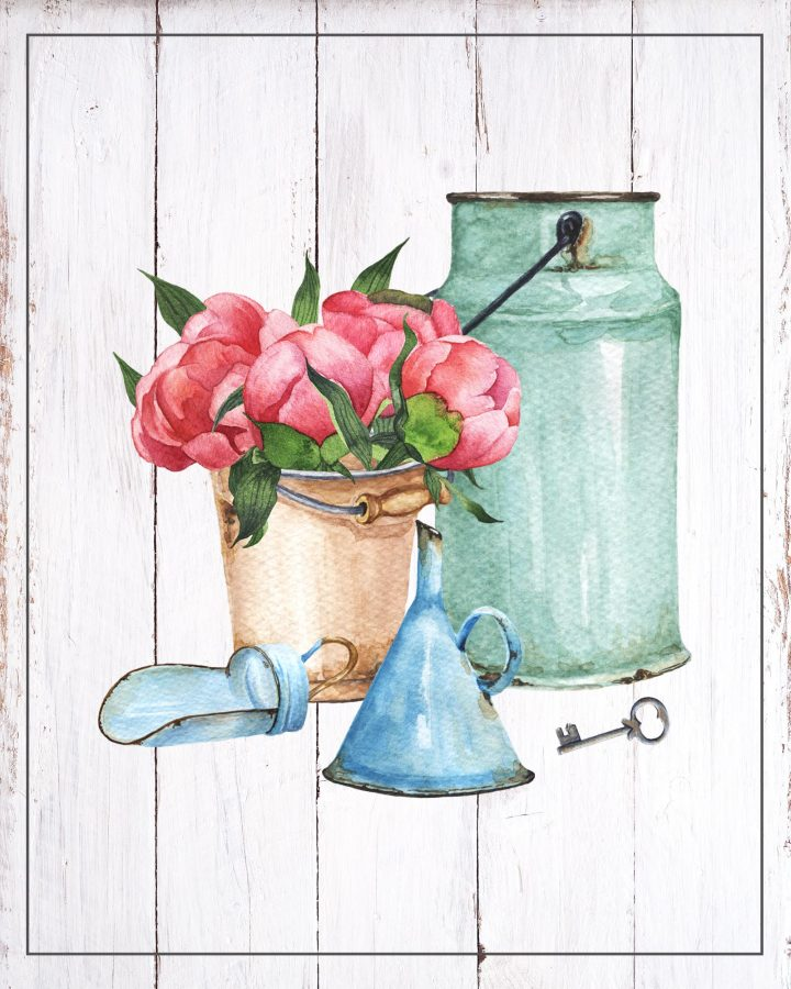 These Free Printable Vintage Farmhouse Vignettes are going to add a touch of charm and vintage to your space! A touch of nostalgia is a wonderful thing!