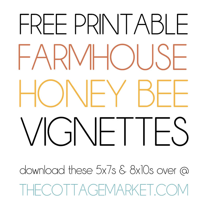 These Free Printable Farmhouse Honey Bee Vignettes are going to add a touch of Charm to your Home for sure.